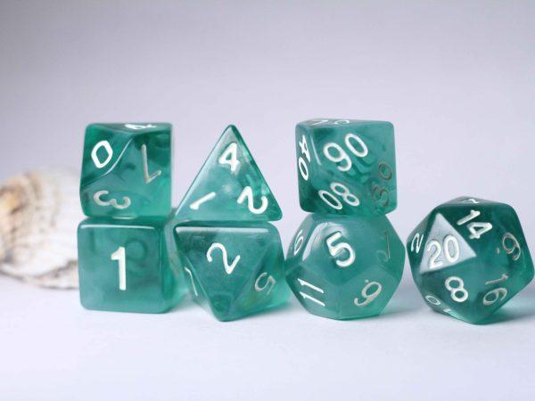 Sea Glass handmade dice set