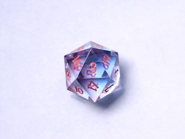 Aequorea D20 D&D handmade dice
