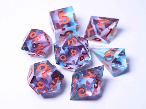 Aequorea handmade dice