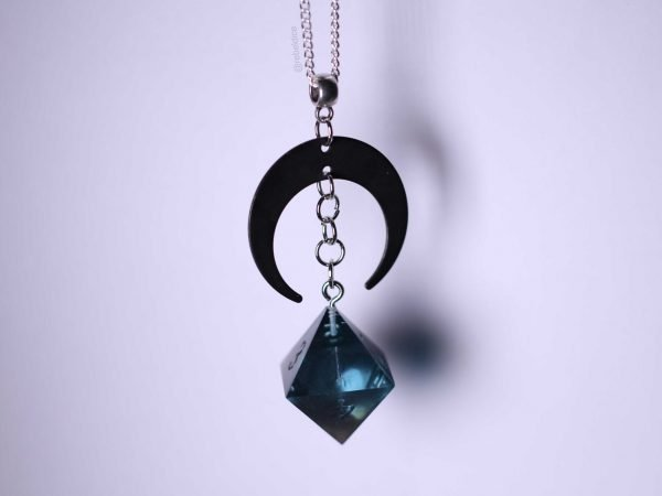 Abyss D8 handmade dice necklace