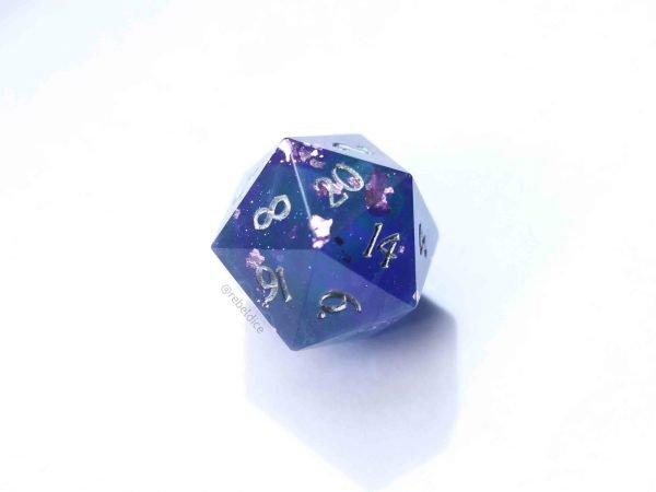 Cosmic Dust Handmade D20 dice