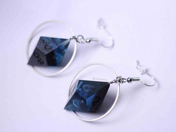 Abyss handmade dice earrings